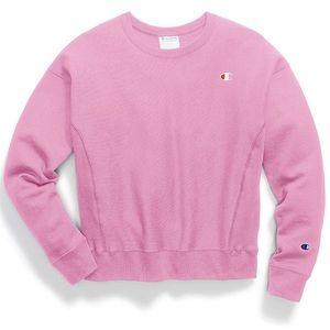 Champion Reverse Weave Bubblegum Pink Sweatshirt